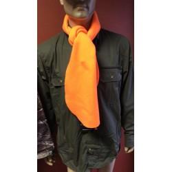 Oranžinis flisinis šalikas